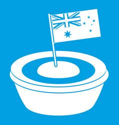 Little flag icon white vector