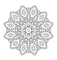 mandala in ethnic oriental style decorative vector image
