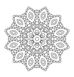 Mandala in ethnic oriental style decorative vector