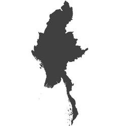 Map of myanmar - burma vector