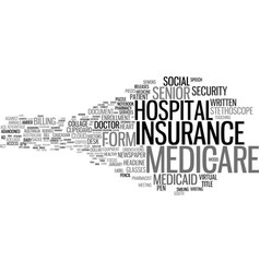 Medicare word cloud concept vector