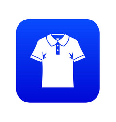 men polo shirt icon digital blue vector image