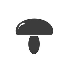 monochrome isolated mushrooms icon on white vector image