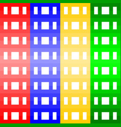 multi-color geometric pattern background vector image