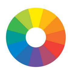 Multicolor spectral rainbow circle 12 segments vector