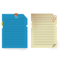 Note paper stylized as pc memory card vector