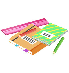 Notebook and pencil back to school write vector