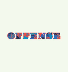 Offense concept word art vector