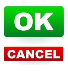 ok cancel buttons vector image