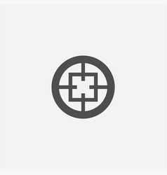 optical sight outline icon vector image