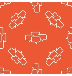 Orange chat conference pattern vector