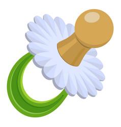 pacifier icon cartoon style vector image