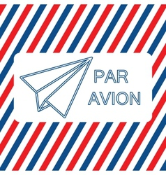 Par Avion or air mail on the vector image