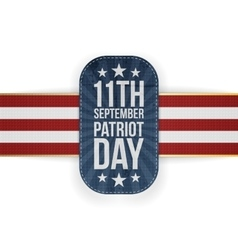 Patriot Day 11th September national Banner vector image