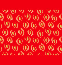 Red seamless strawberry pattern vector