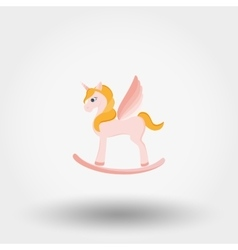 Rocking Horse Unicorn vector