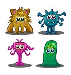 Set of cute cartoon monsters vector image