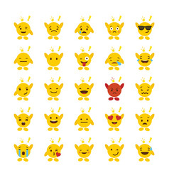 Set of emojis with hands design vector