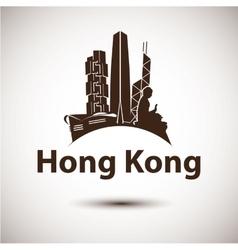 silhouette hong kong vector image