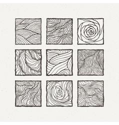 Squares set Pattern vector image