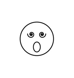surprised emoticon vector image