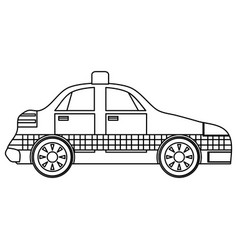 Taxi cab vehicle vector