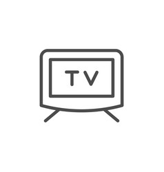 Television screen line outline icon vector