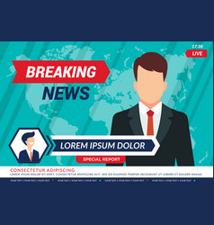 Tv news background sport television anchor vector