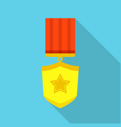 winner icon flat style vector image