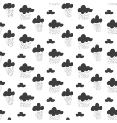 Baby seamless pattern black fun rainy sky vector