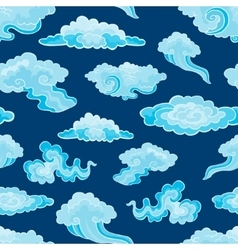 Cartoon Color Clouds Seamless Pattern Background vector image