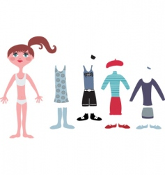 dress up vector image vector image