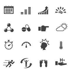 healthy icon set vector image vector image