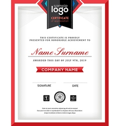 Modern certificate abstract graphic frame template vector image vector image