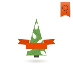 Stylized Christmas Tree with Ribbon vector image vector image