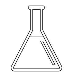 Test tube icon outline style vector image