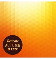 Autumn Sun Triangle Background vector image vector image
