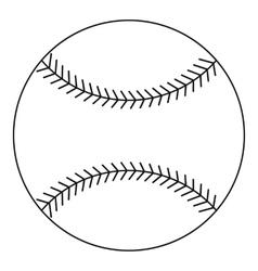 Baseball ball icon outline style vector image vector image
