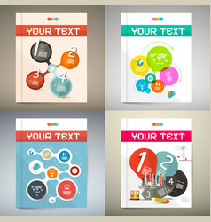 book covers set - technology magazine cover design vector image