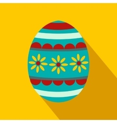 Colorful easter egg flat icon vector image vector image