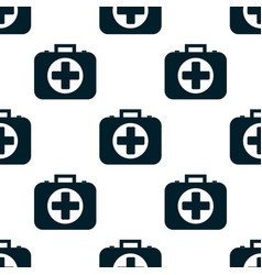pattern of the first aid kit isolated on white vector image