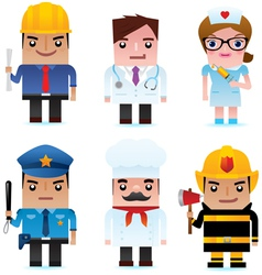 Professional occupation Icons vector image vector image