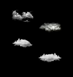 Set of realistic isolated cloud on the vector