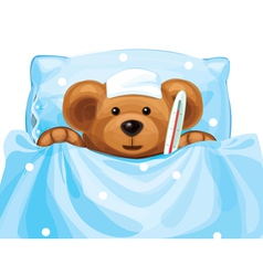 sick baby bear vector image vector image