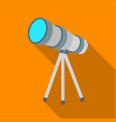 telescope icon in flate style isolated on white vector image