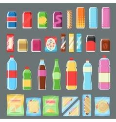 Vending machine product set in flat design vector image vector image