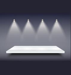 white presentation platform vector image vector image