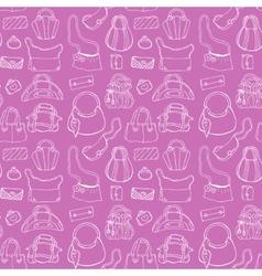 Women handbags Seamless pattern vector image