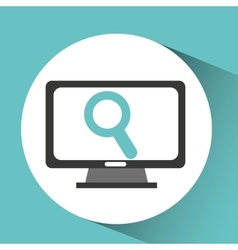 Computer device search network icon vector