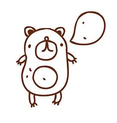 Hand Drawn Talking Bear vector image vector image